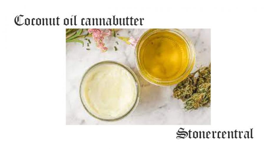 Coconut oil cannabutter