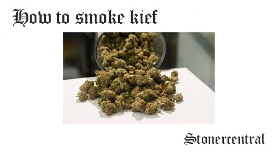 how to smoke kief
